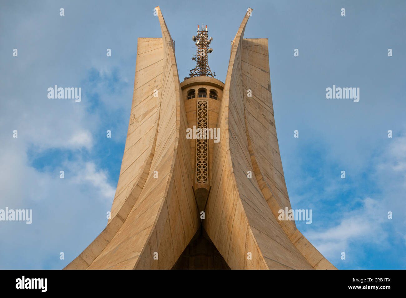 The Monument of the Martyrs in Algiers, Algeria, Africa - Stock Image