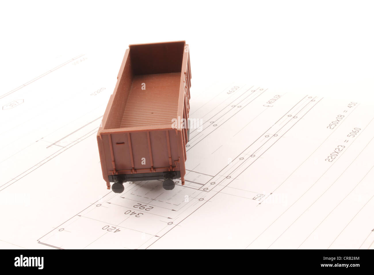 Design of a wagon toy merchandise. - Stock Image