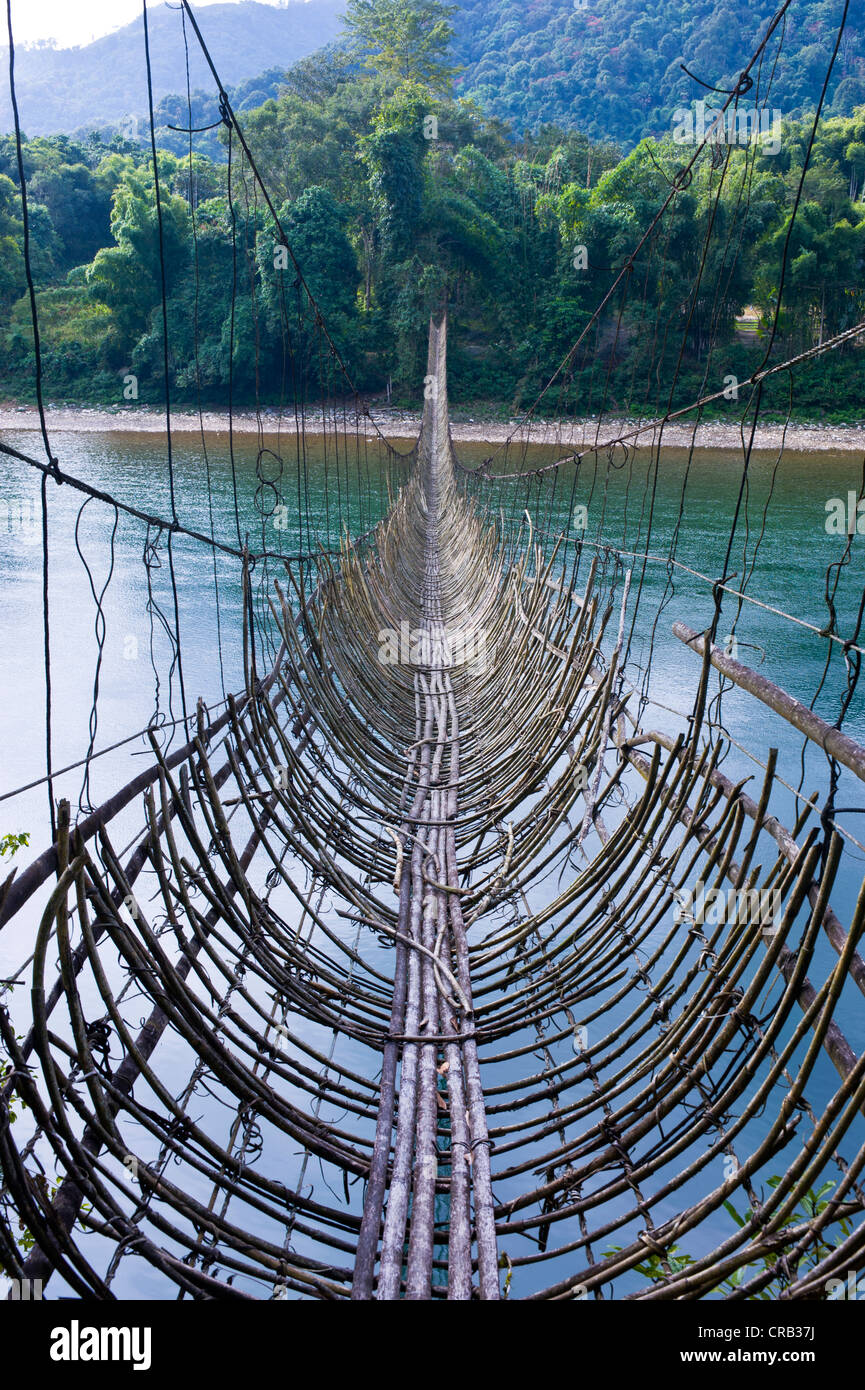 Bamboo Bridges India Stock Photos Amp Bamboo Bridges India