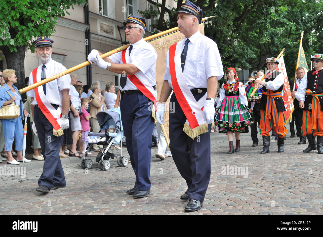 Corpus Christi Day - procession in Lowicz. - Stock Image