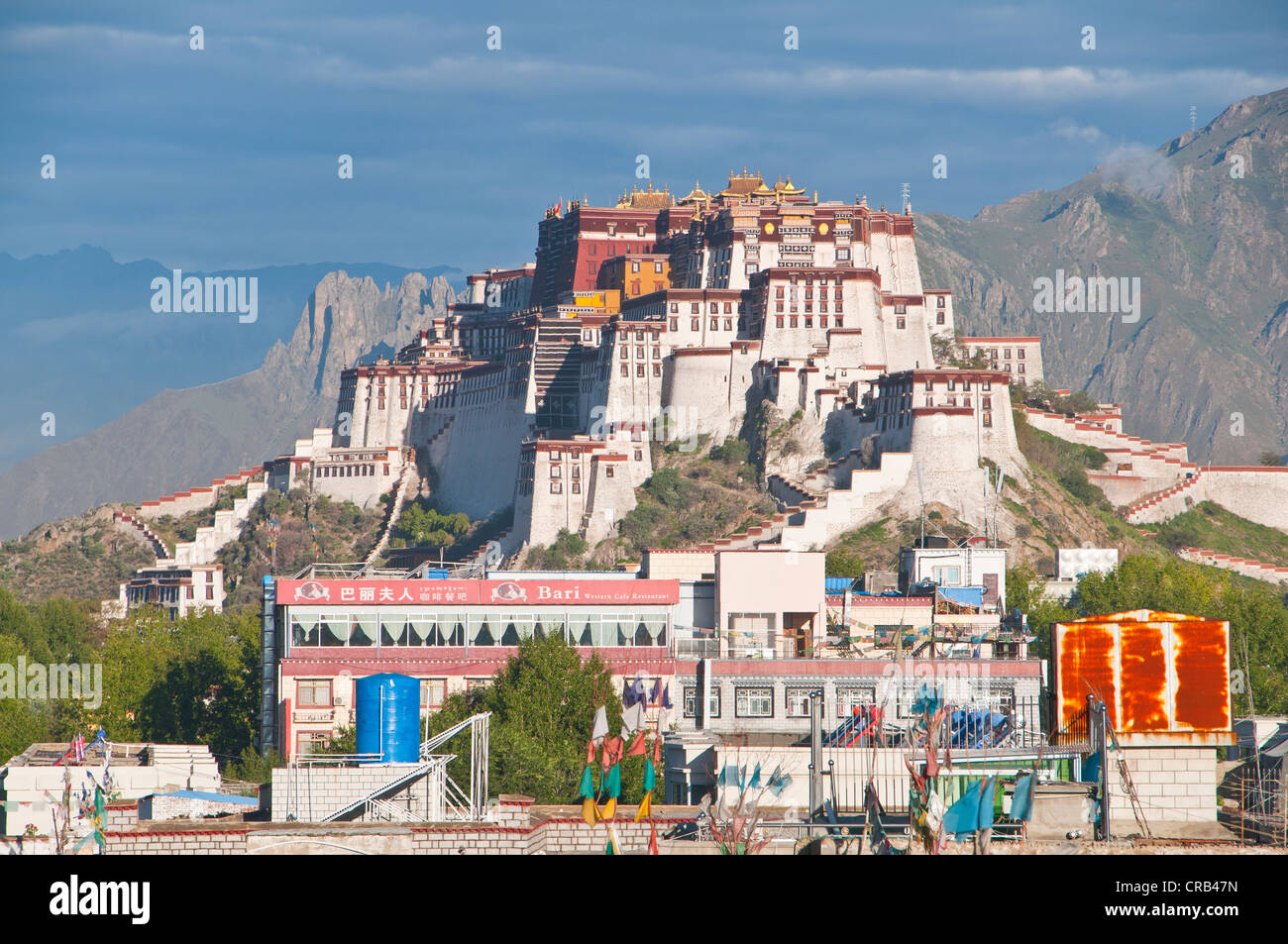 Potala Palace, UNESCO World Heritage Site, Lhasa, Tibet, Asia - Stock Image