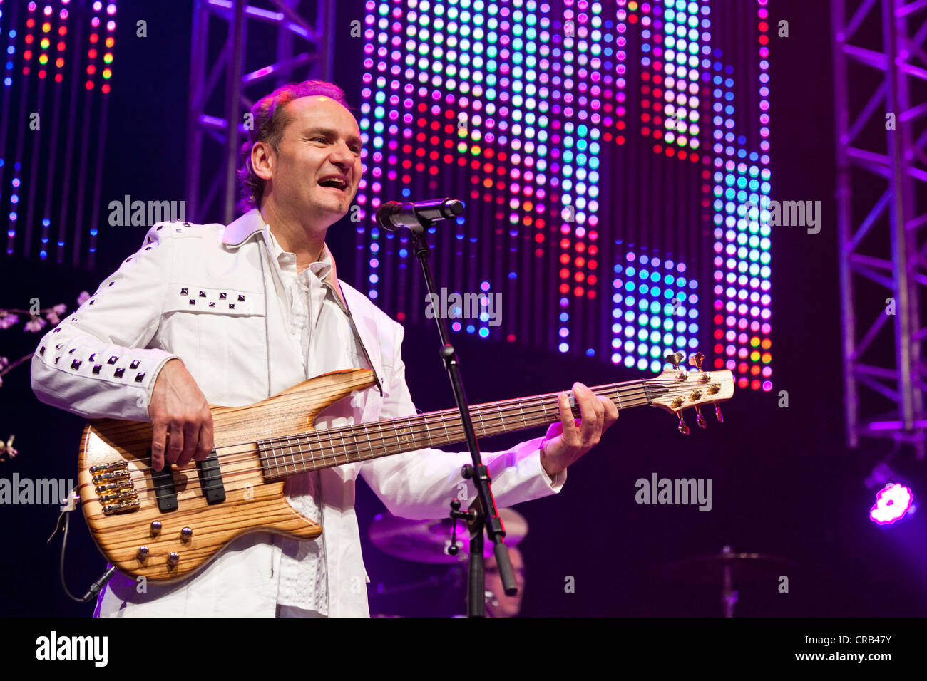Harry Muster of the Austrian pop band 'Die Paldauer' performing live at the Schlager Nacht 2012, pop music - Stock Image