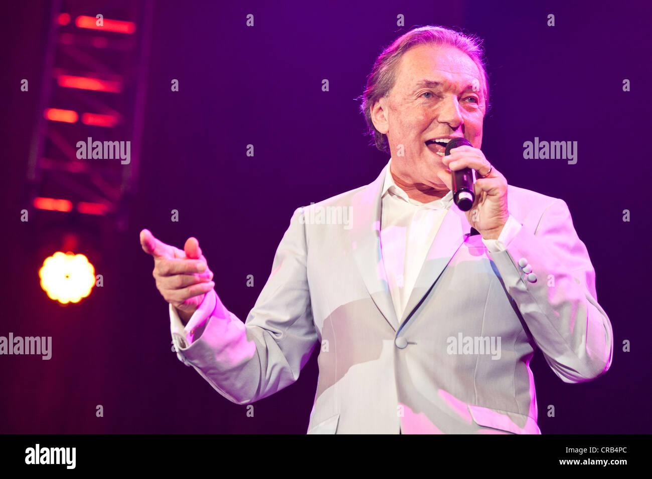 Czech pop singer Karel Gott performing live at the Schlager Nacht 2012, pop song night, in Lucerne, Switzerland, - Stock Image