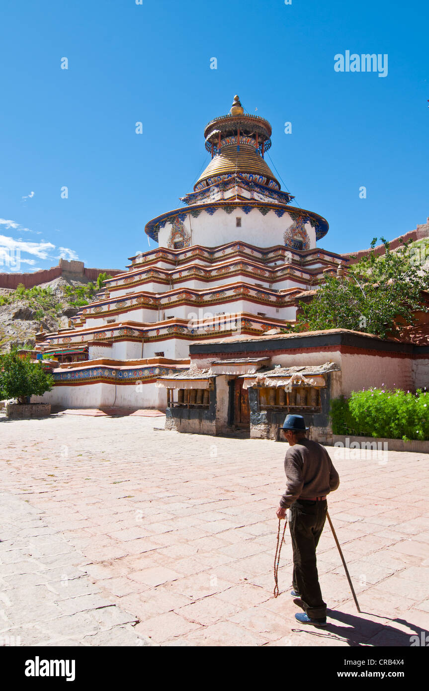 Kumbum stupa in the monastery of Gyantse, Tibet, Asia Stock Photo