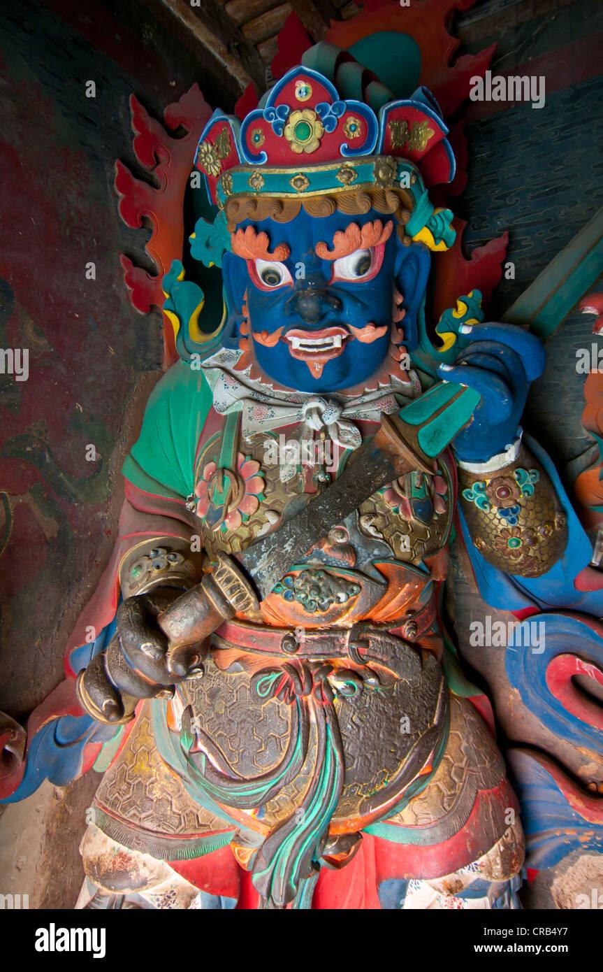 Buddha in the Kumbum stupa in the monastery of Gyantse, Tibet, Asia - Stock Image
