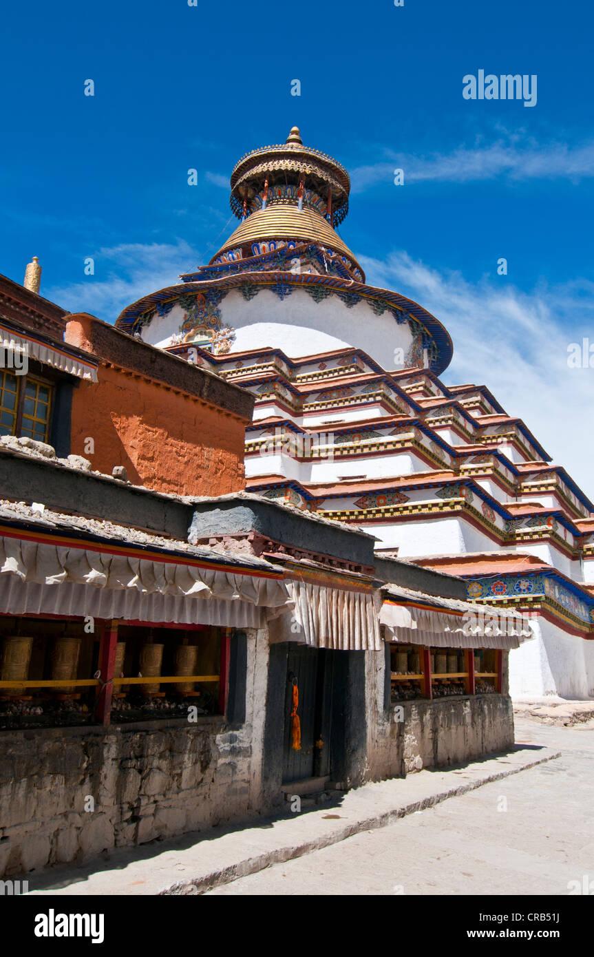The Kumbum, Gyantse Monastery, Gyantse, Tibet, Asia - Stock Image