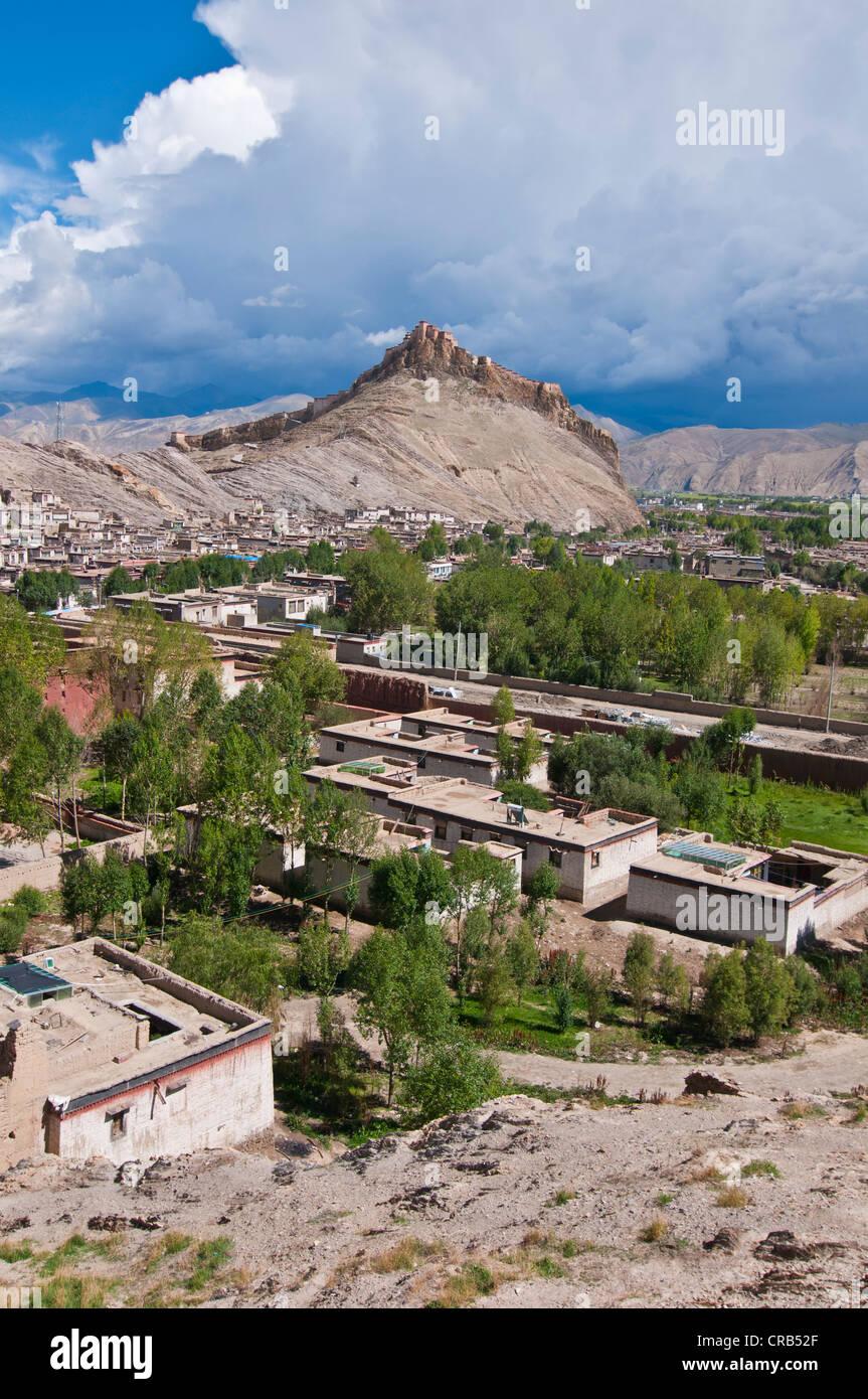 Gyantse, Tibet, Asia Stock Photo