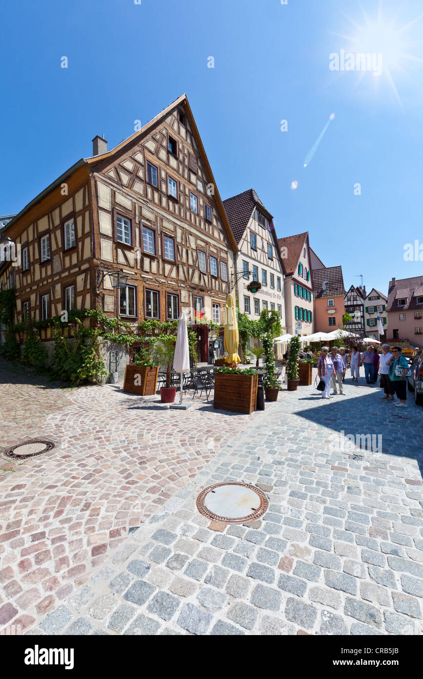 Franconian half-timbered buildings, Bad Wimpfen, Neckartal, Baden-Wuerttemberg, Germany, Europe, PublicGround - Stock Image