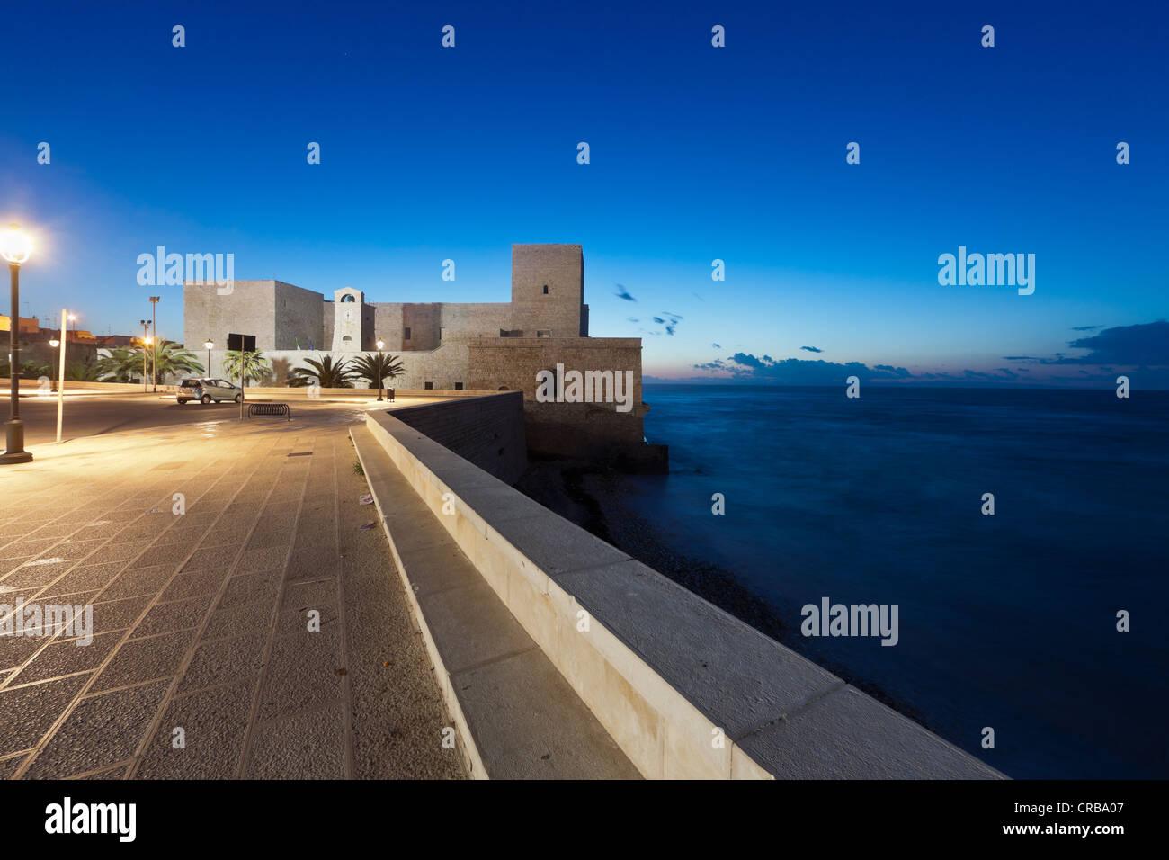 Trani Castle, the fortress of Trani, Apulia, Southern Italy, Italy, Europe - Stock Image