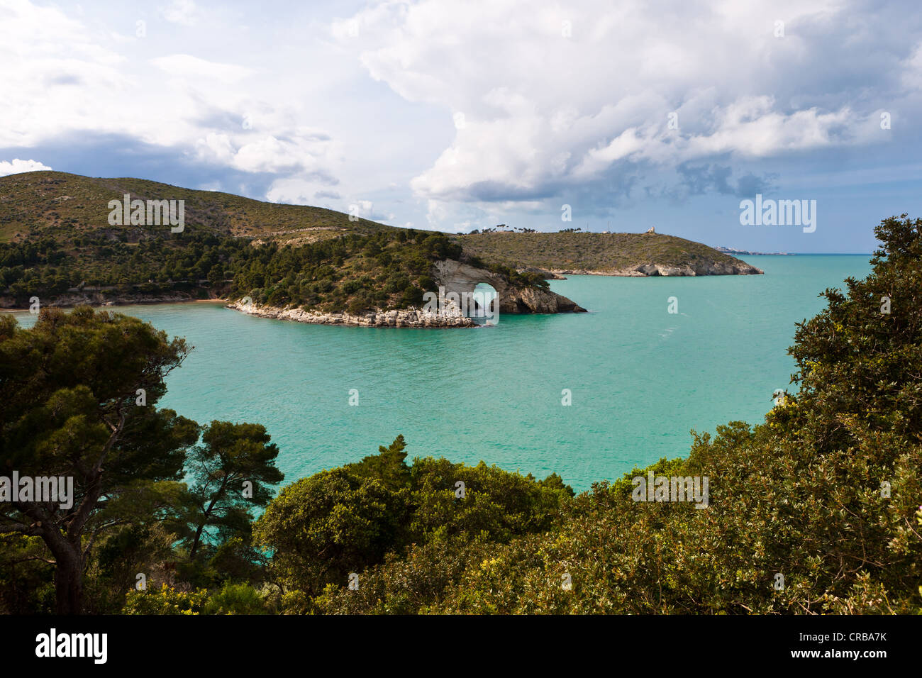 Coast near Gargano, Architello San Felice, also known as the spur of the Italian boot, Foggia Province, Apulia, - Stock Image