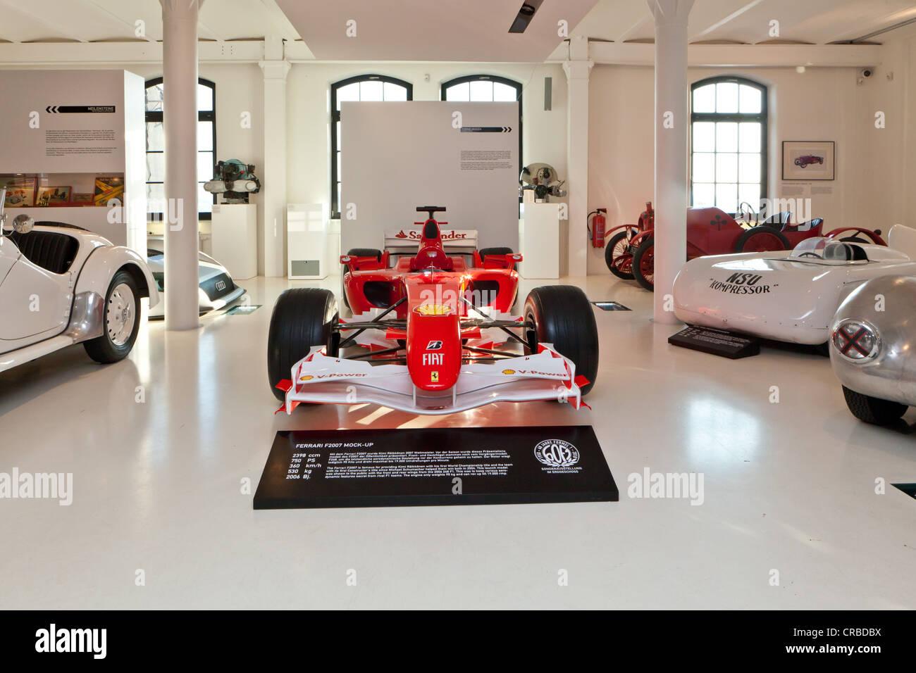 Ferrari F2007 Mock-up from 2006, world champion car of Kimi Raikkonen from 2007, Prototyp Museum Hamburg, Hafencity - Stock Image