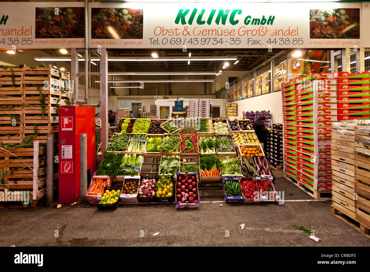 Wholesale for fresh produce, fruit and vegetables, Frankfurt