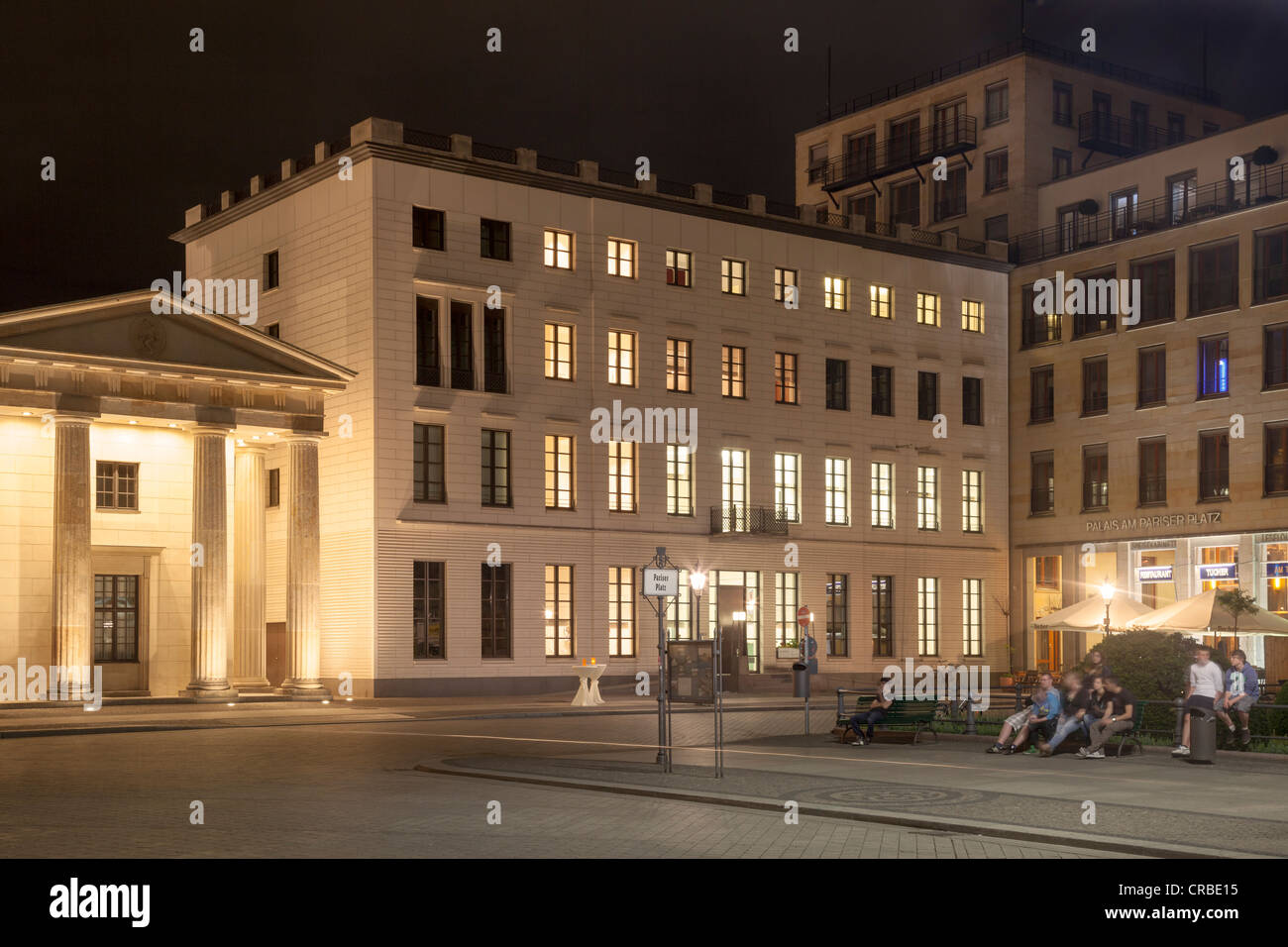 Max LiebermannHaus, Pariser Platz, Berlin, Germany - Stock Image