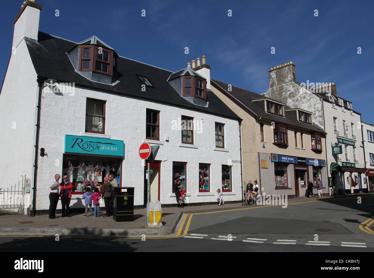 4d08ced1fa Portree street scene Isle of Skye Scotland June 2012 Stock Photo ...