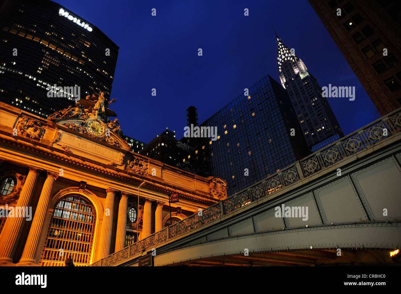 Grand Central Terminal and Chrysler Building, Manhattan, New York, USA - Stock Image