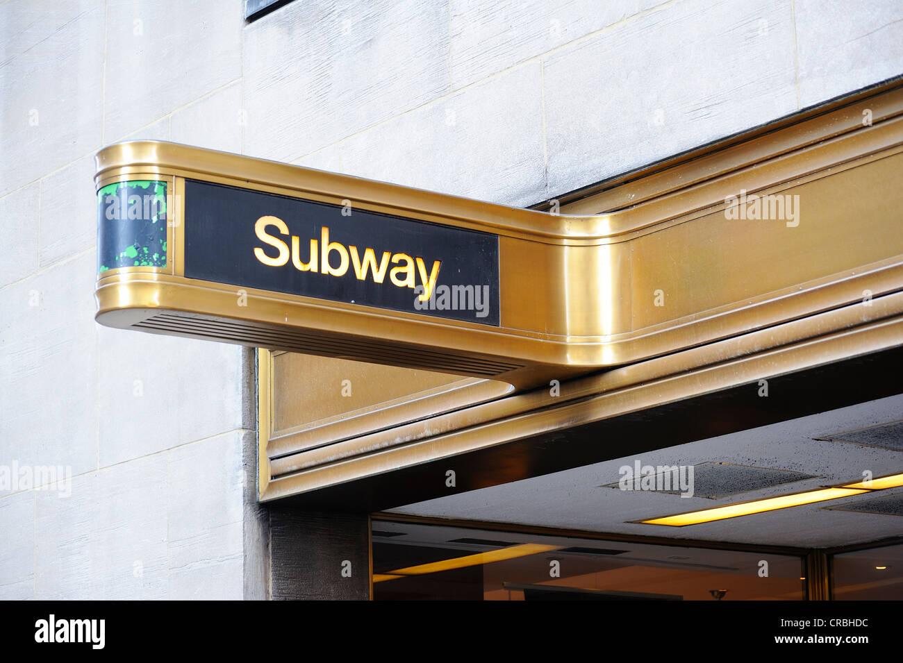 Subway sign, Manhattan, New York, USA - Stock Image