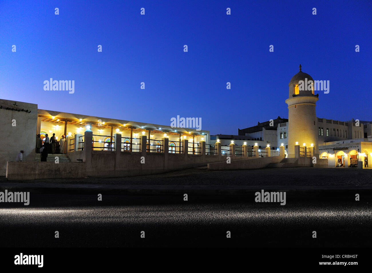 Mosque in the Souk Waqik, Doha, Qatar Stock Photo
