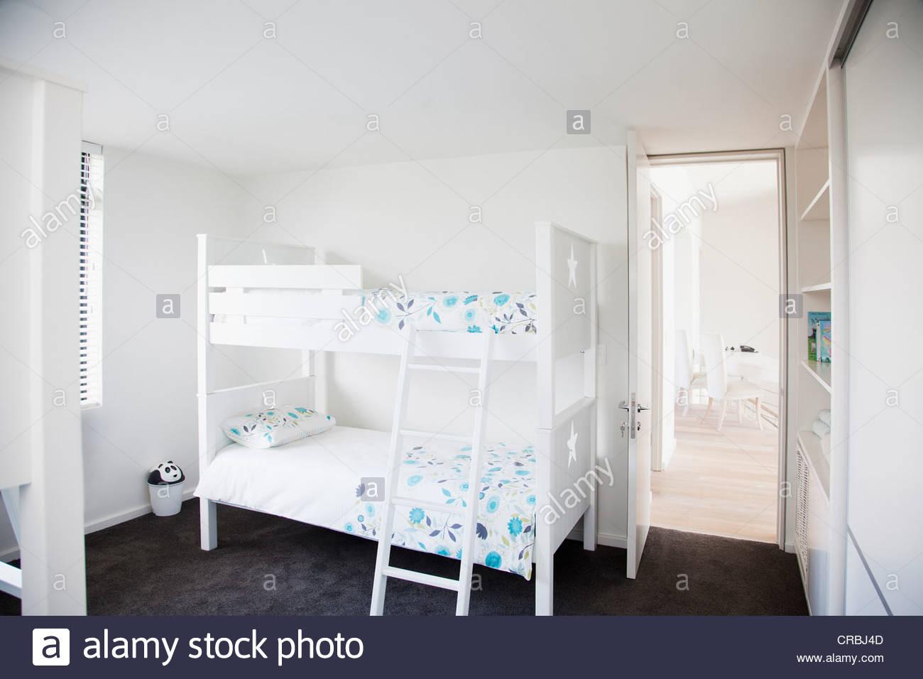 Bunk beds in children's bedroom - Stock Image