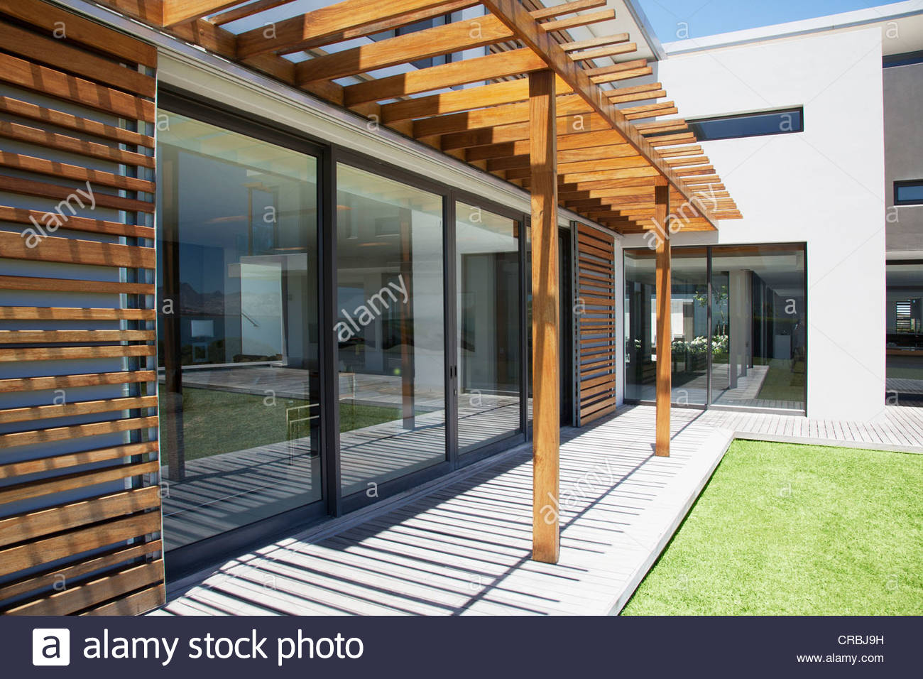 Pergola Covering Patio Of Modern House