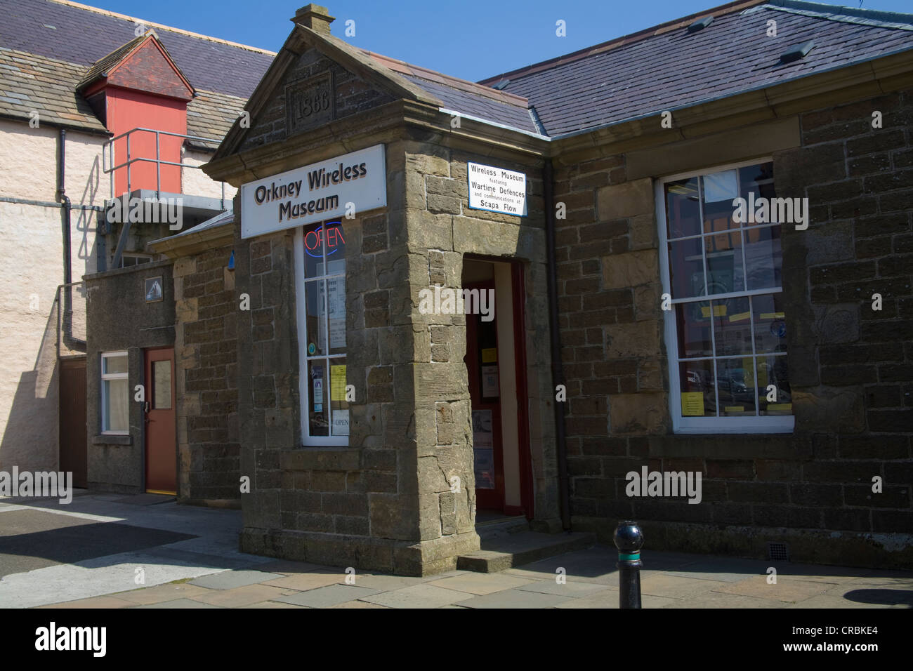 Kirkwall Orkney Mainland Islands Scotland UK Orkney Wireless Museum building dated 1866 houses collection of domestic - Stock Image