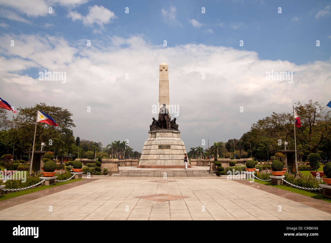 The Rizal Monument in Rizal Park or Luneta, Manila, Philippines, Asia - Stock Image