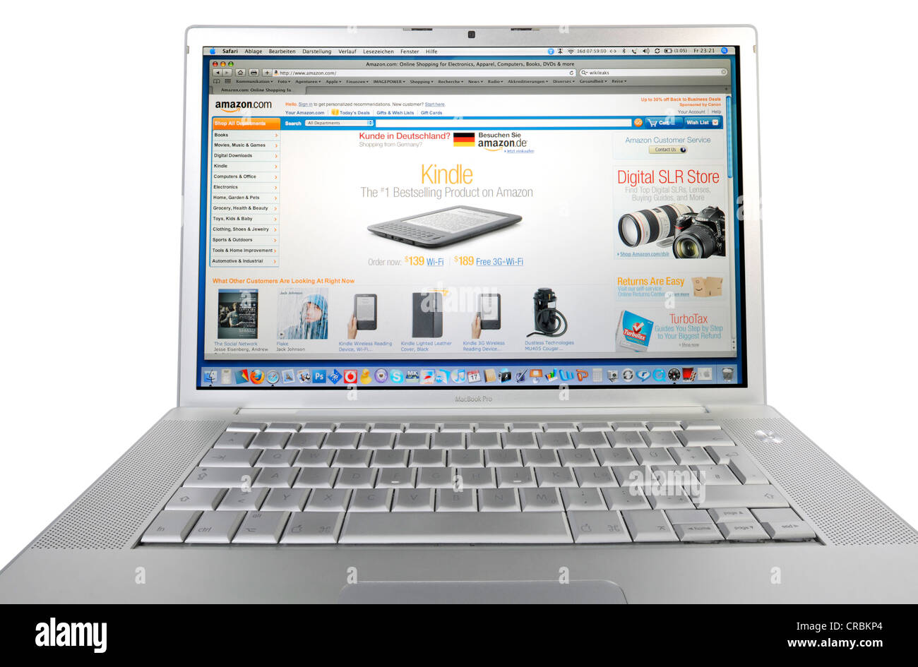 Amazon.com, online shopping, displayed on an Apple MacBook Pro - Stock Image