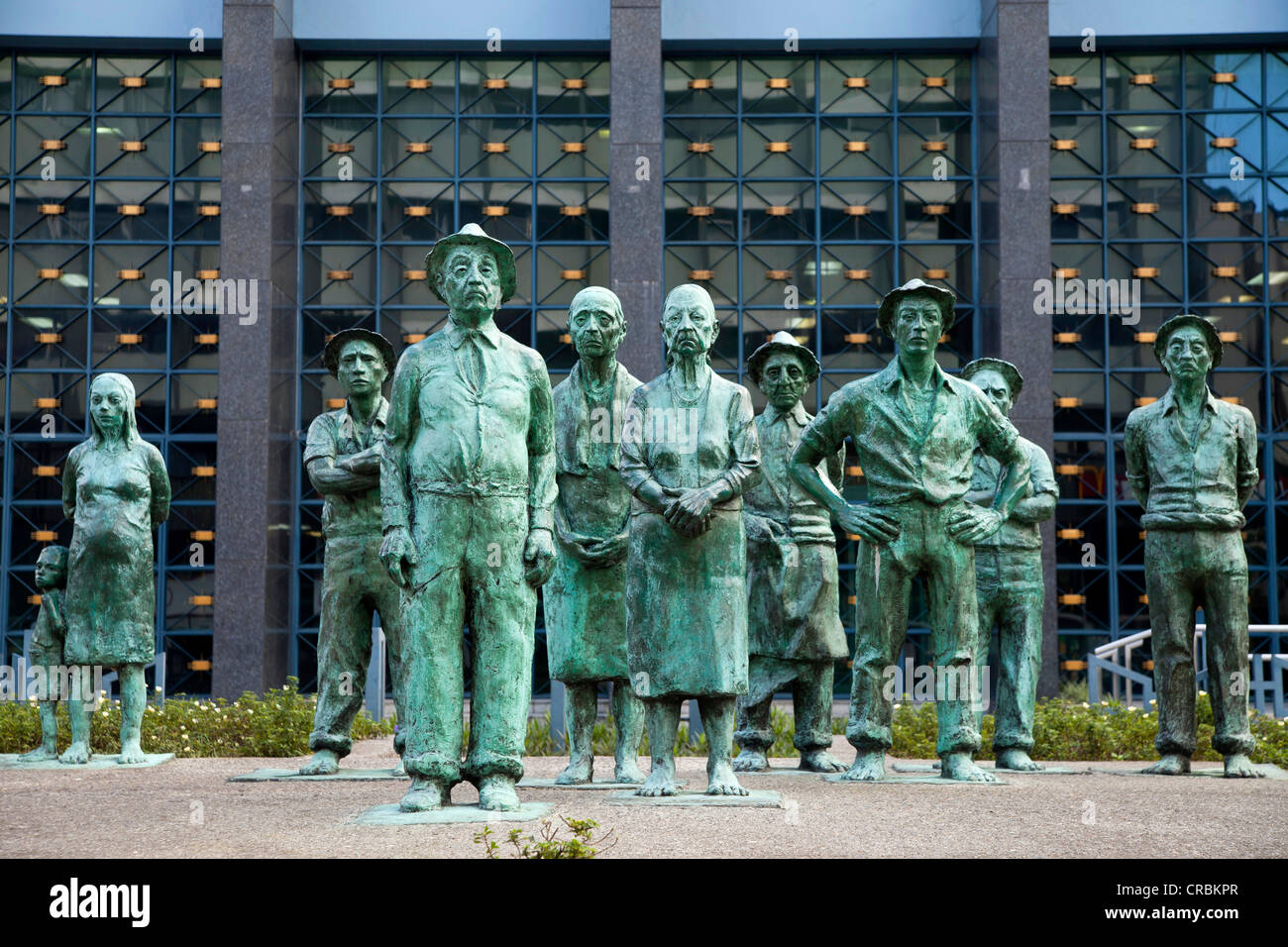Statues in front of the Central Bank of Costa Rica, Banco Central de ...