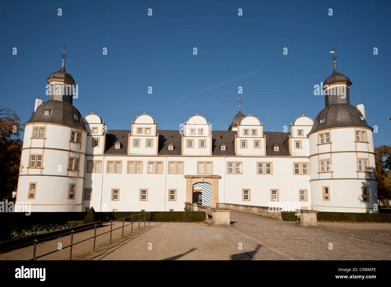Schloss Neuhaus castle, an outstanding Weser-Renaissance building in Paderborn, North Rhine-Westphalia, Germany, - Stock Image
