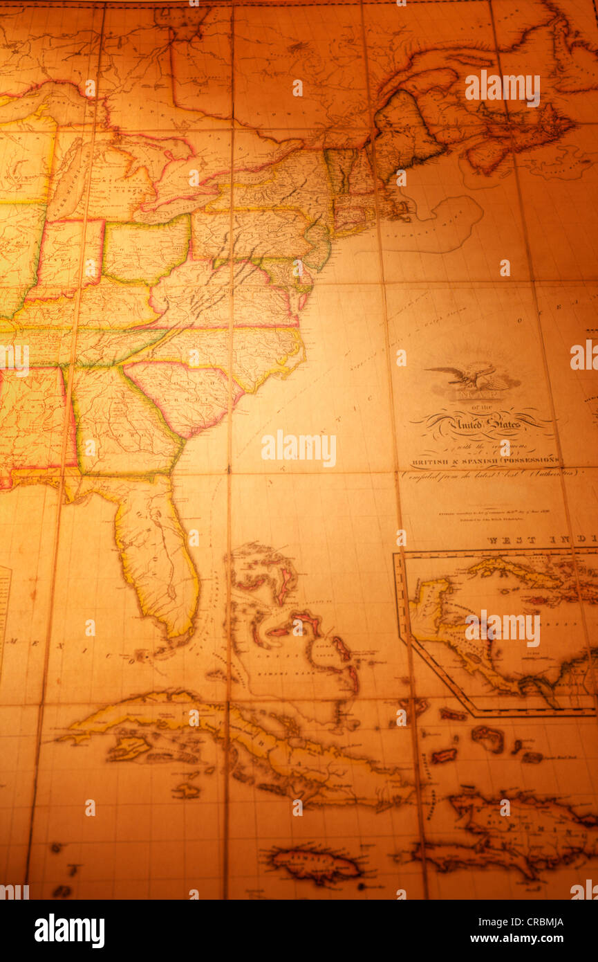 Vintage Map Of The East Coast Of The Usa And Cuba Map Is From 1820 Stock Photo Alamy