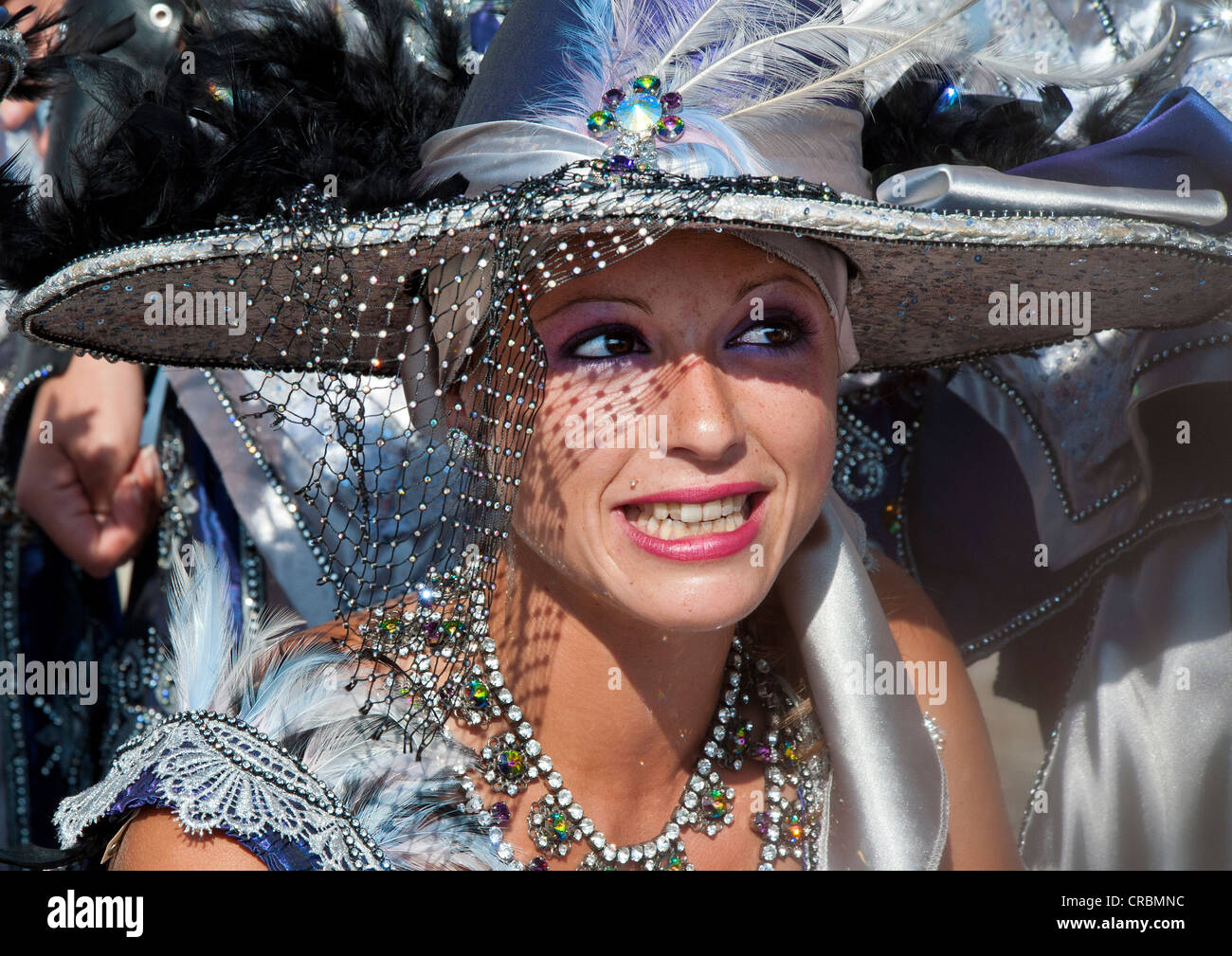Woman in Traditional Moors Costume at the Moors and Christians Fiesta in Mojacar, Almeria, Andalusia, Spain Stock Photo