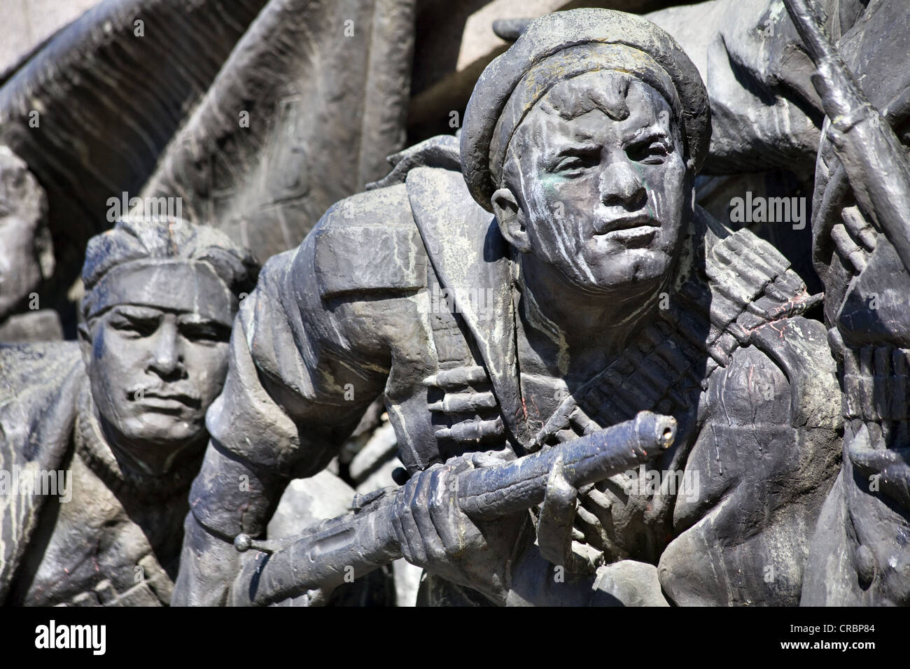 Detail of the Russian Army Monument in Sofia, Bulgaria - Stock Image