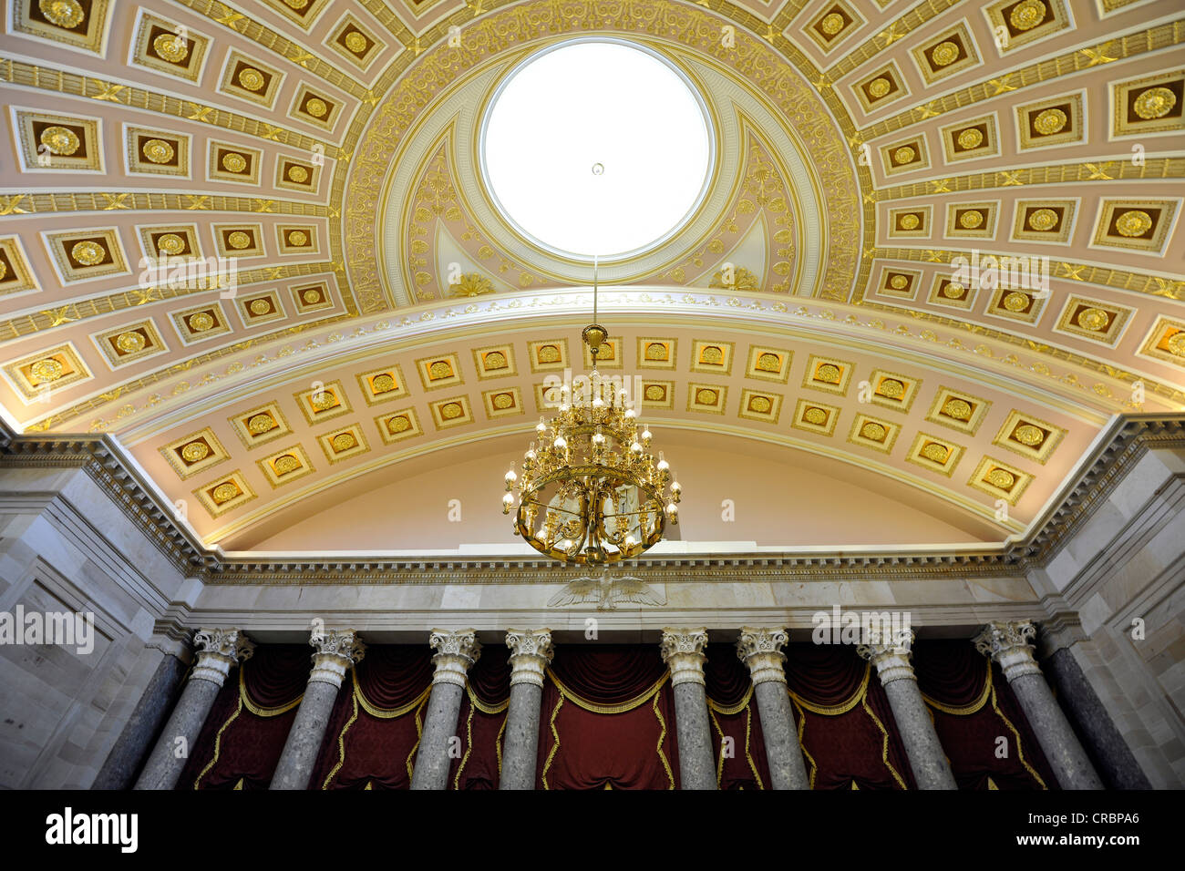 Dome in the National Statuary Hall Collection, United States Capitol, Capitol Hill, Washington DC, District of Columbia - Stock Image