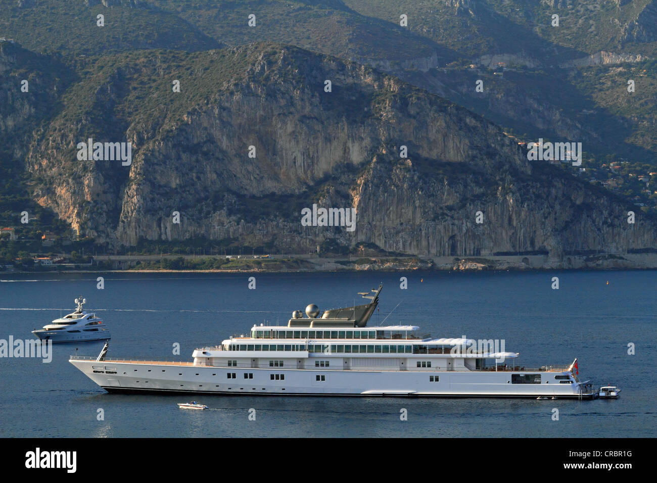 Motor yacht 'Rising Sun', 138m, built by Luersson Yachts in 2004, owned by David Geffen, previously owned - Stock Image