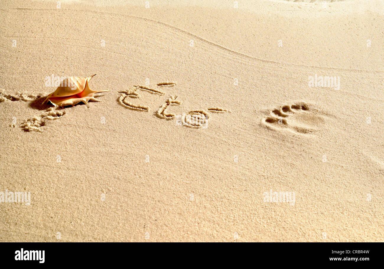 Ete written in sand - Stock Image