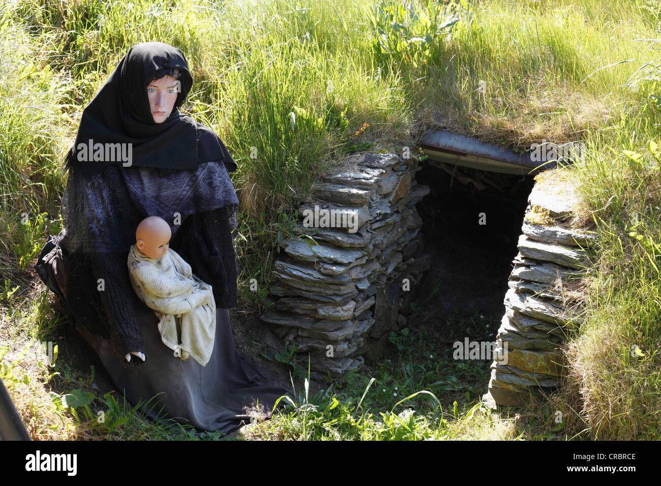 Doagh Famine Village Museum, Ballyliffin, Inishowen Peninsula, County Donegal, Ireland, British Isles, Europe - Stock Image