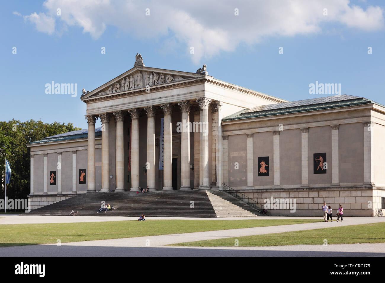 Staatliche Antikensammlungen, State Collections of Antiquies, Koenigsplatz square, Munich, Upper Bavaria, Bavaria, - Stock Image