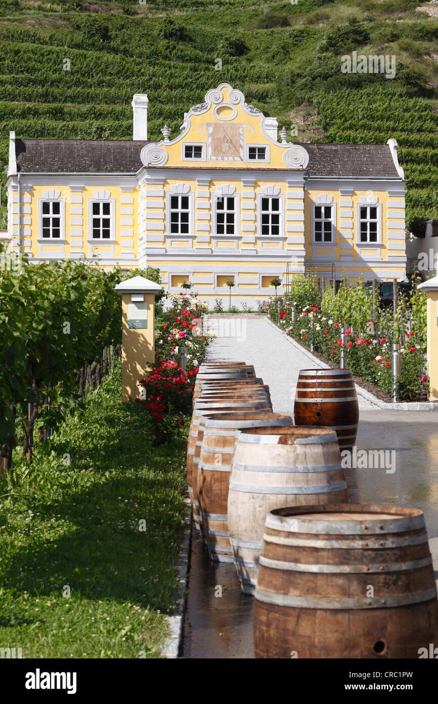 Kellerschloesschen manor, Duernstein, Wachau, Lower Austria, Austria, Europe - Stock Image