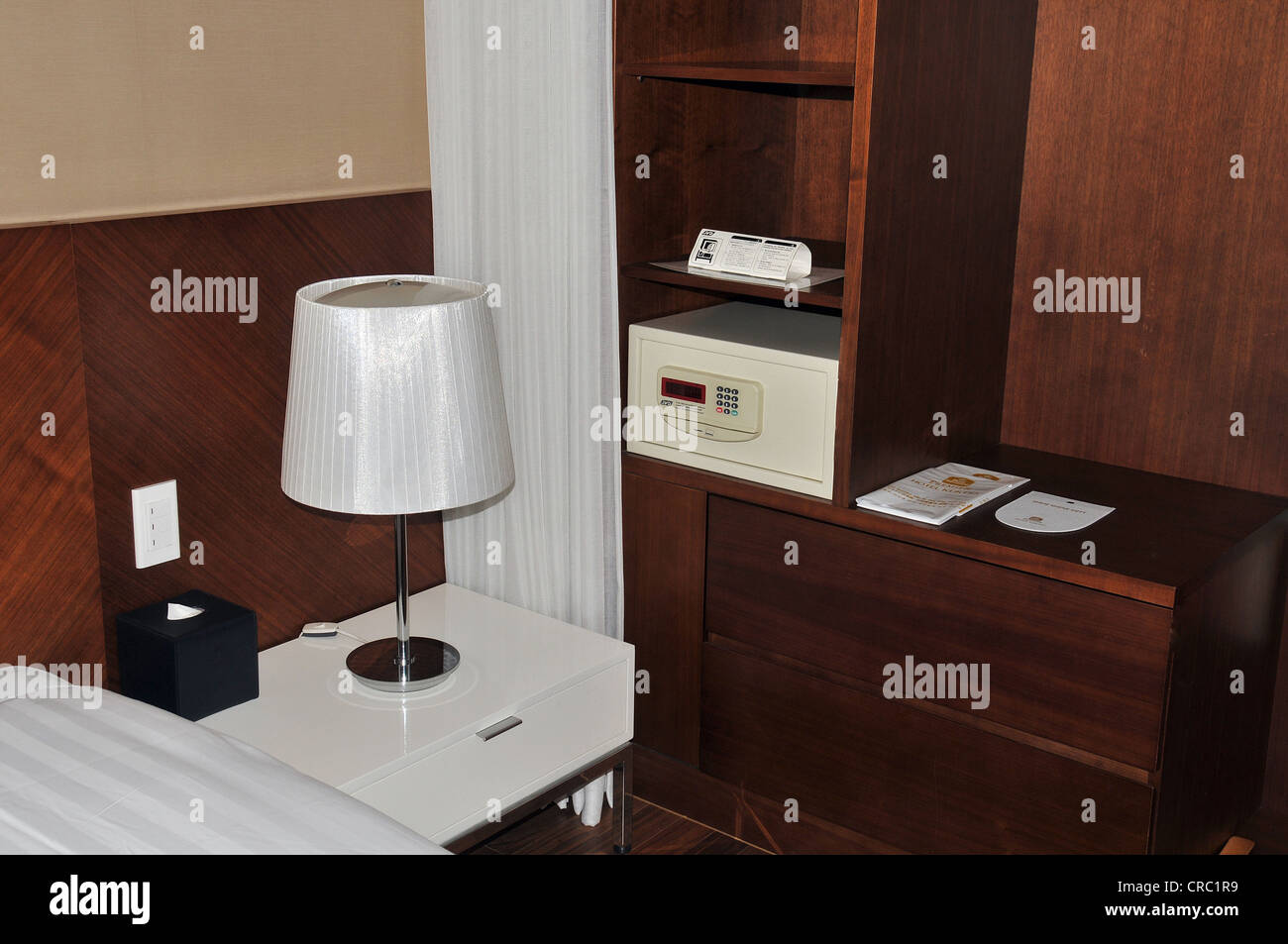 safety box in hotel room Seoul South Korea Asia Stock Photo