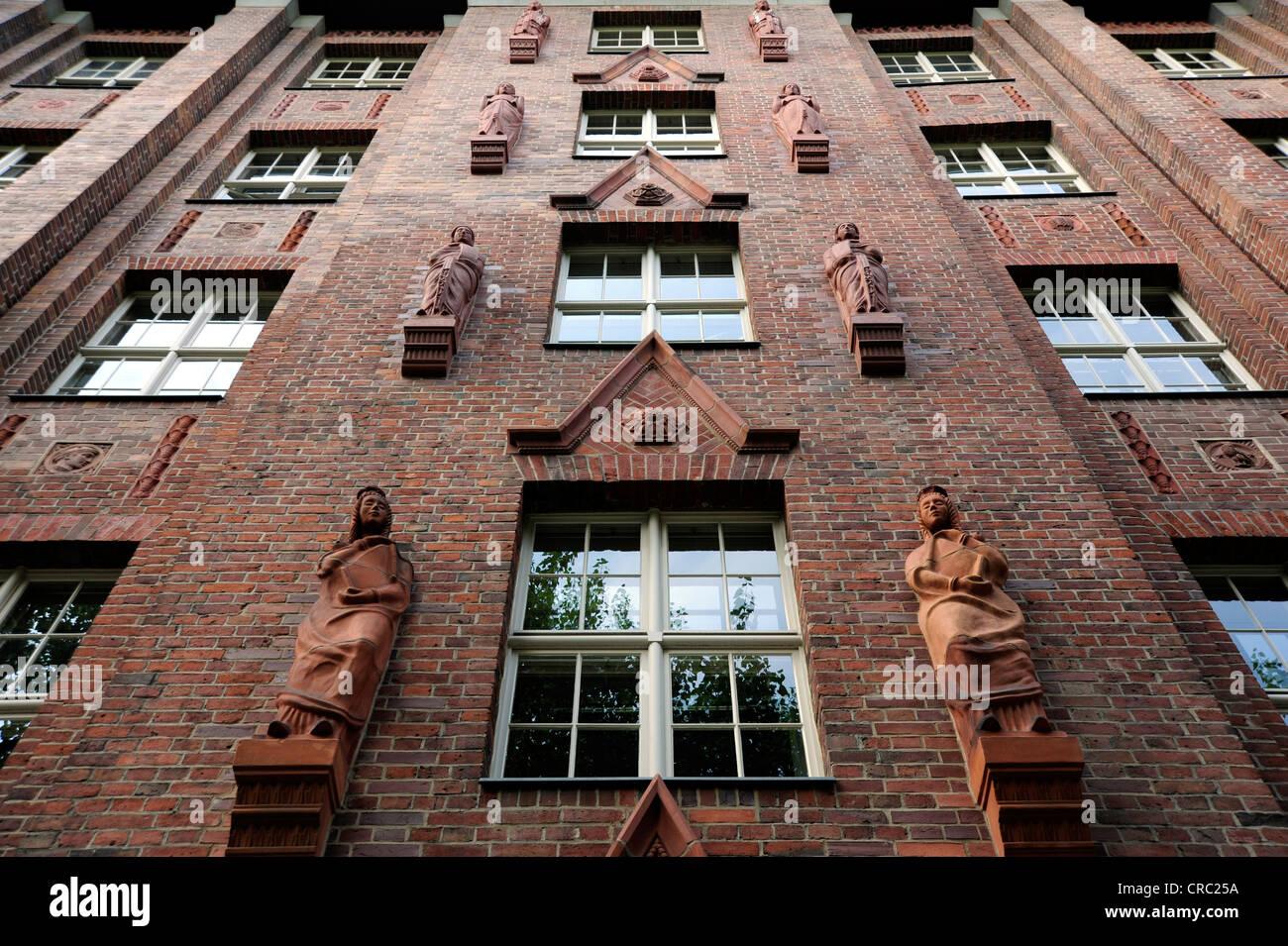 Senate Department for Integration, brick building, Oranienstrasse, Berlin Kreuzberg, Germany, Europe - Stock Image