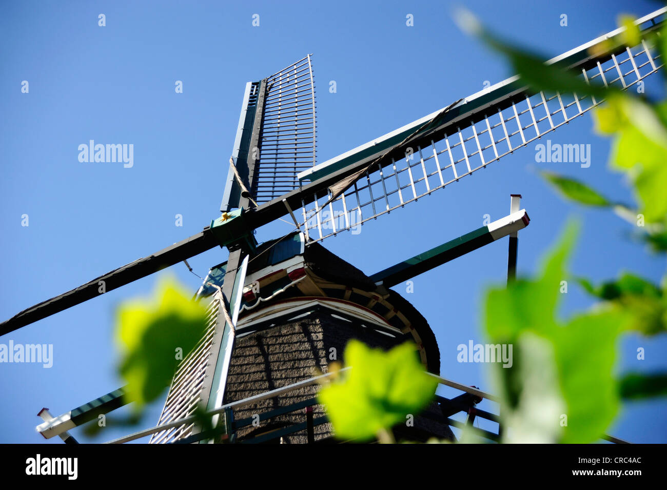 De Gooyer windmill on the Funenkade, Amsterdam Oost, Noord-Holland, North Holland, the Netherlands, Europe - Stock Image