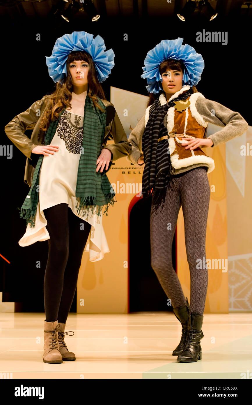 Female models at Copenhagen International Fashion Fair, Copenhagen, Denmark, Europe - Stock Image