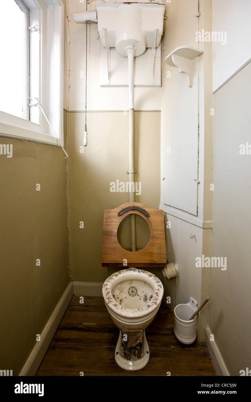 Original toilet from 1892 in a Victorian home - Stock Image