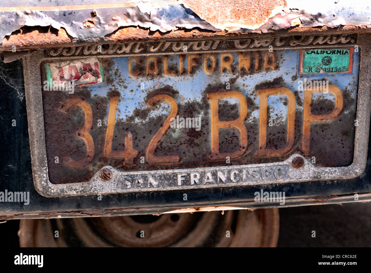 1960's California Licence plate - Stock Image