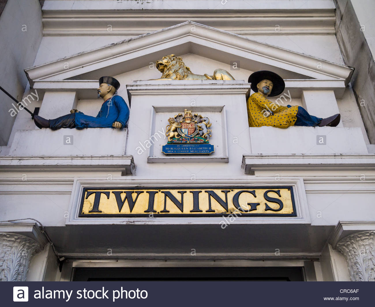 Front facade of 'The House of Twining', Fleet St, London, UK - Stock Image