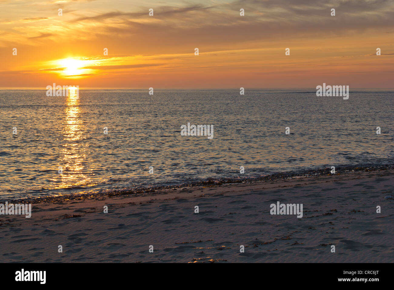 Sunset at Barabhas (Outer Hebrides) - Stock Image