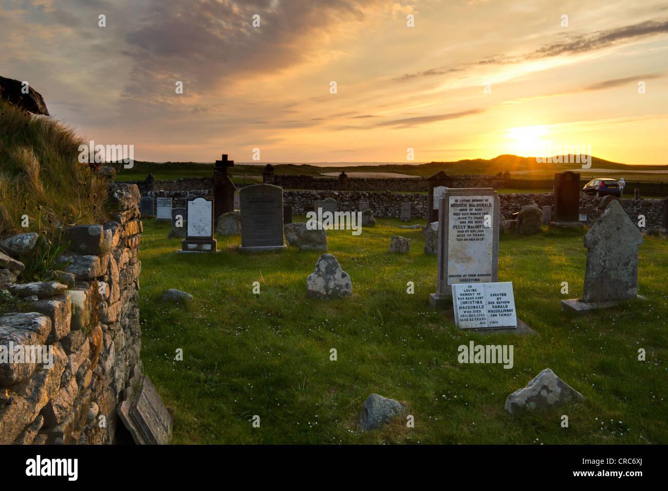 Medieval burial ground Stock Photo