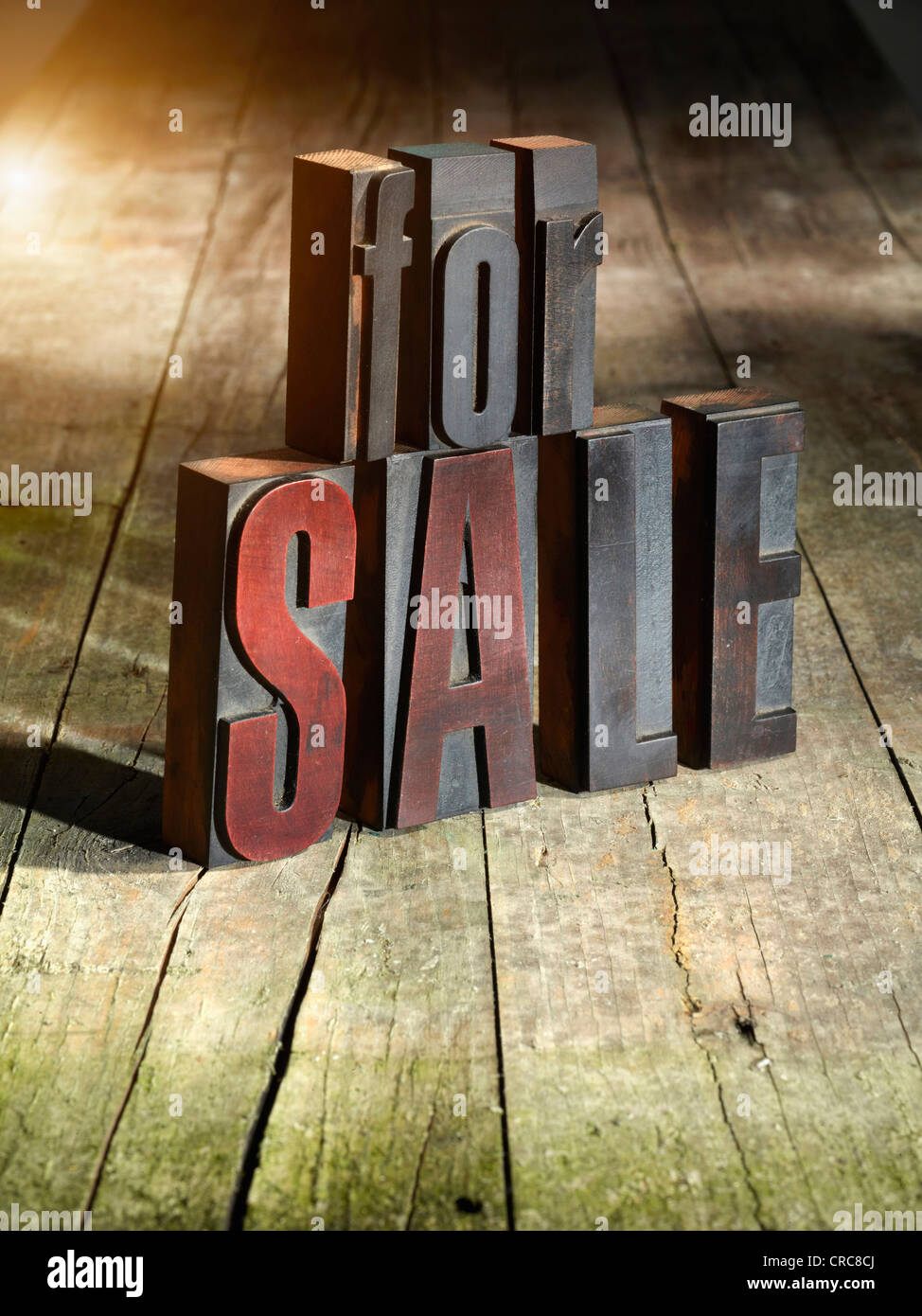Wooden blocks spelling for sale - Stock Image