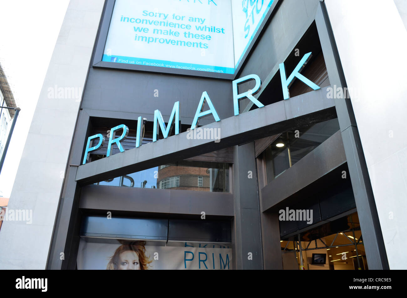 London Primark store sign - Stock Image