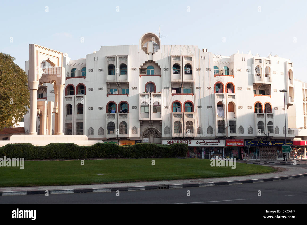 Elk206-2164 United Arab Emirates, Dubai, Bur Dubai, apartment complex