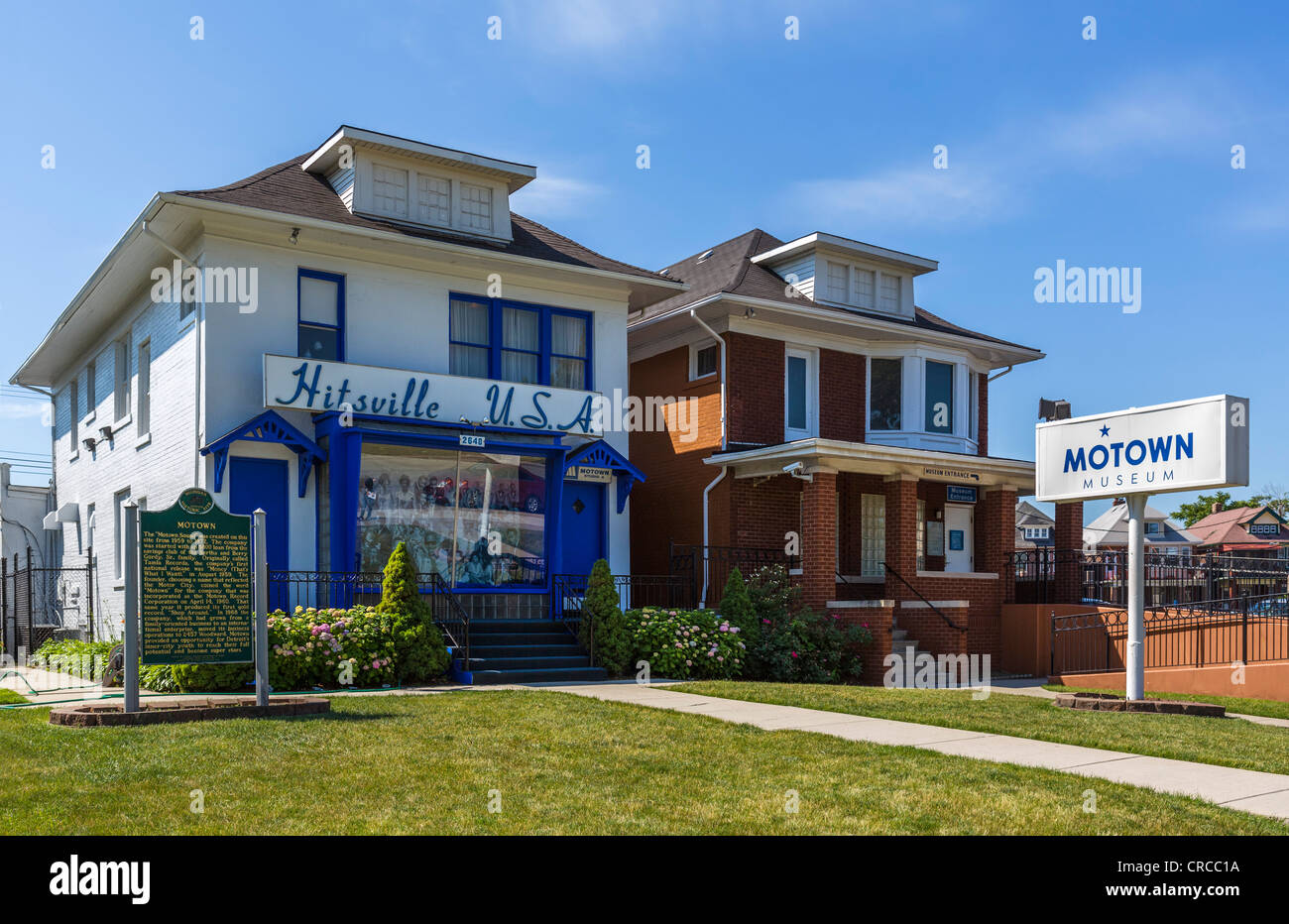 The Motown Museum, a recording studio from 1959-1972, Detroit, Michigan, USA - Stock Image